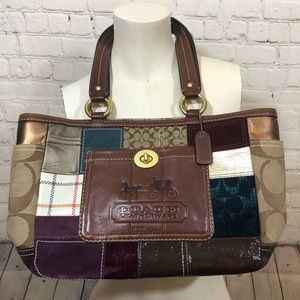 Coach purse patchwork design bag